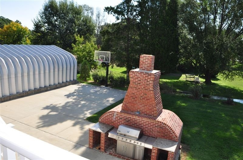 Outdoor Grill and Basketball Court