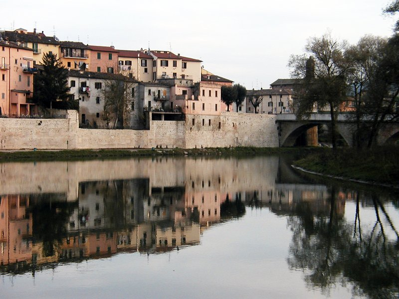 The medieval walls of Umbertide