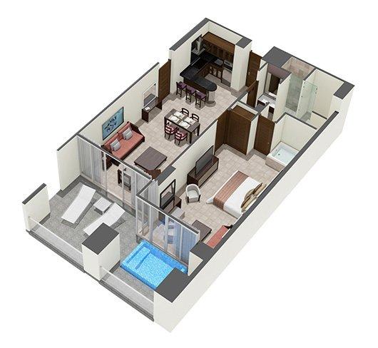 The Grand Mayan 1 Bedroom Suite At Vidanta, Riviera Maya