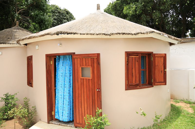 ONE OF MANGO VILLAGE'S AFRICAN HUTS