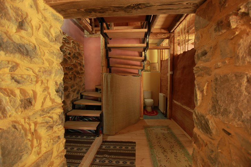 Stairs leading to the attic