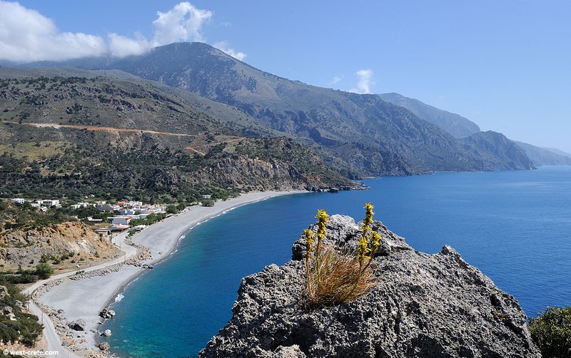 Overview of Sougia, a beautiful beach and a tranquil village