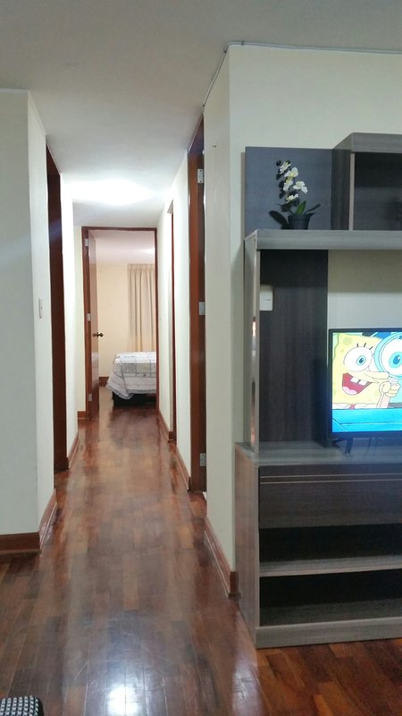 view of the different compartments dpto as living room, kitchen, laundry room
