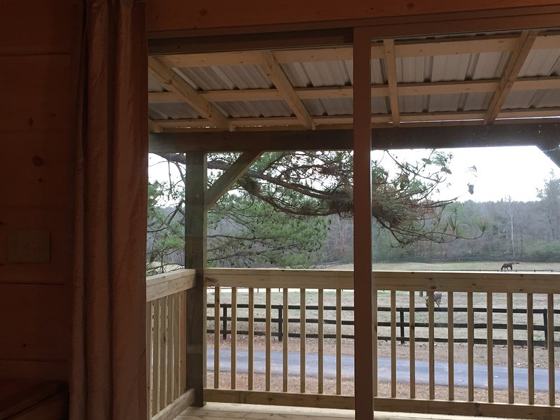 Cabin at IE Farm - Beautiful Pasture View, 7 miles to Equestrian Center, vacation rental in Tryon