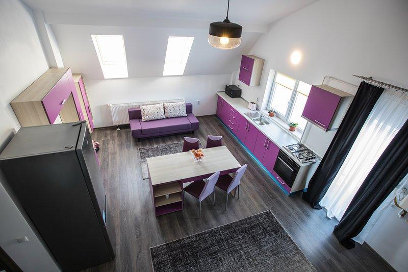 Transylvania Boutique Duplex Apartment Brasov, holiday rental in Sanpetru