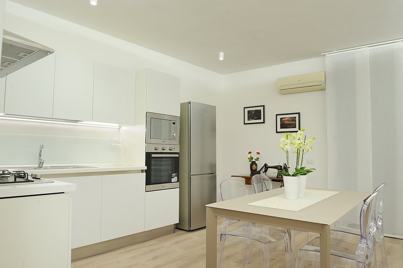 fully equipped kitchen with modern style