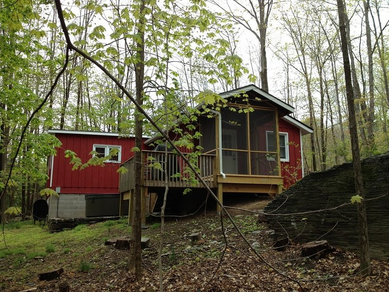 2 BR Cabin, Hot Tub, Fireplace, Heart of Woodstock, alquiler de vacaciones en Woodstock