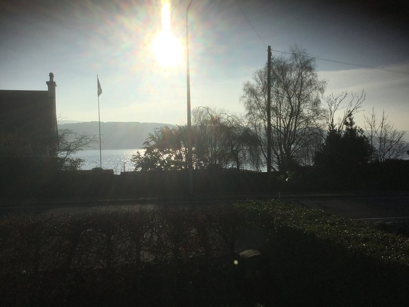 View of Loch Fyne from the front garden