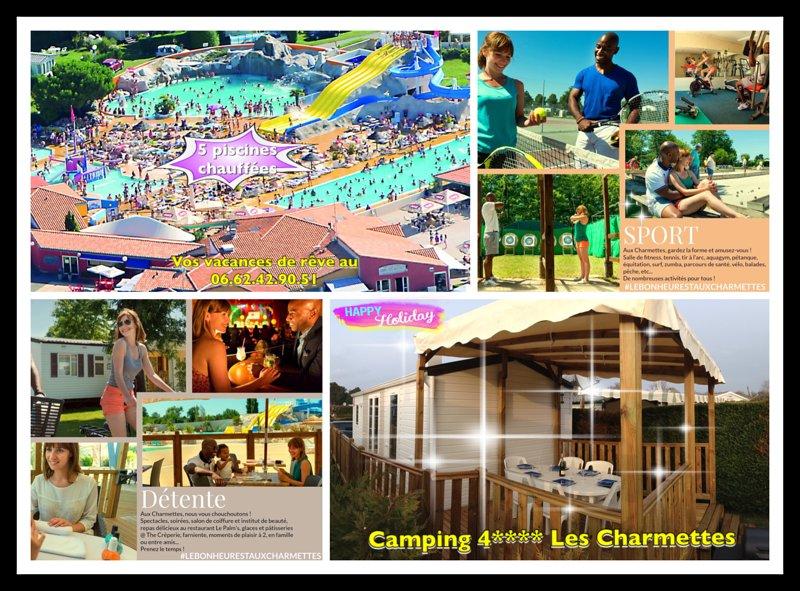 Mobile home neuf clim, terrasse couverte, camping 4* les Charmettes à La Palmyre, holiday rental in La Palmyre-Les Mathes