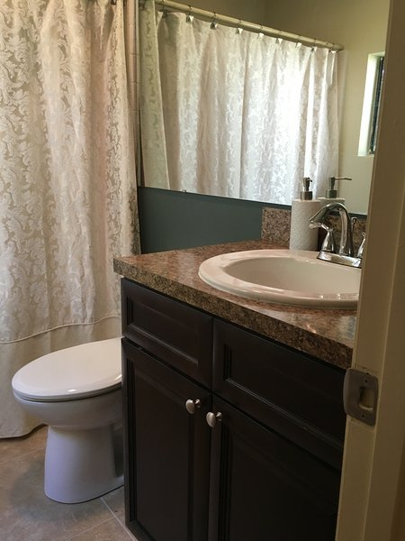 Brand new bathroom and fixtures