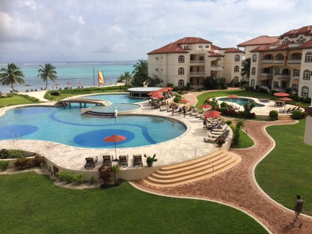 The Grand Caribe Resort with pools, restaurants, grocery store, tours and water sport equipment