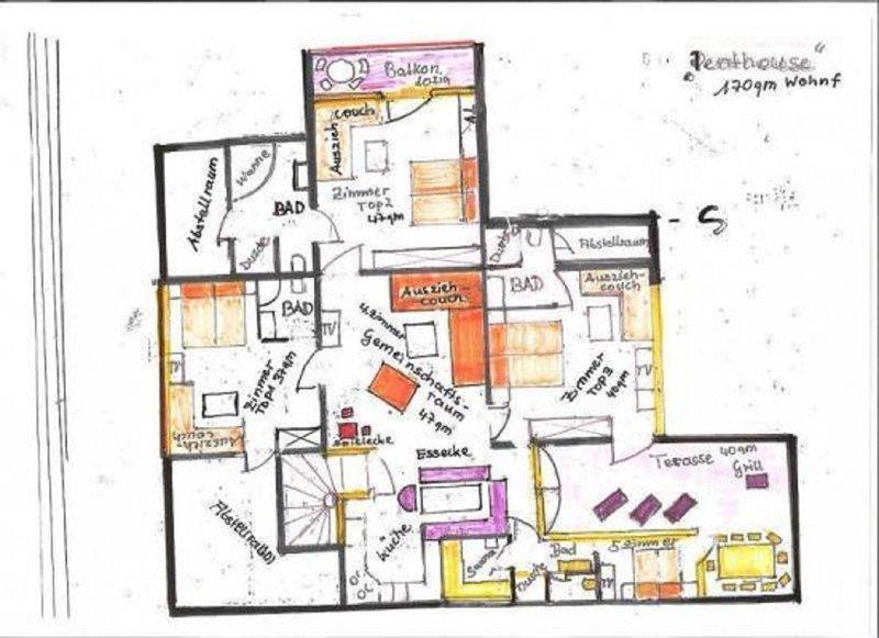 plano de andar apartamento