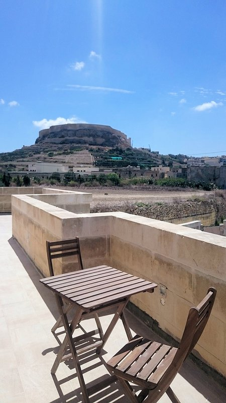 View of the Citadel from upstairs balcony