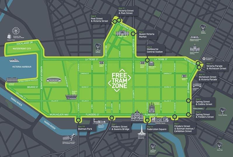 zone de tram gratuit dans le centre-ville