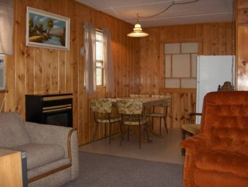 cabin living & dining area