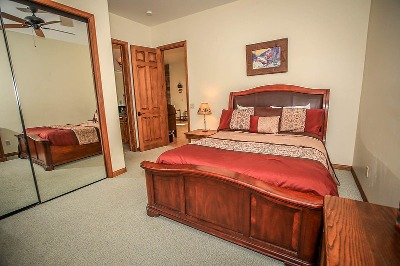 Bedroom 2- Queen Bed, TV, Shared Hall Bath- 1st Level