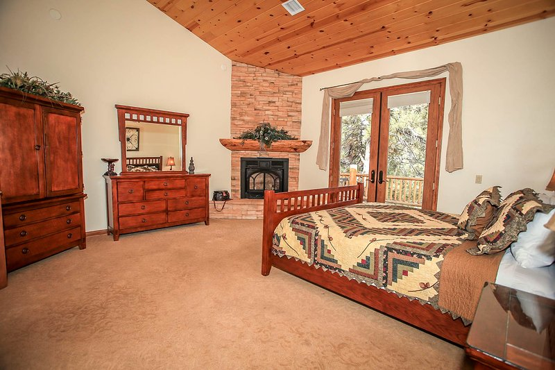 Bedroom 4- Master Suite- King Bed, Fireplace, Deck Access, Private Bath With Jetted Tub- 2nd Level