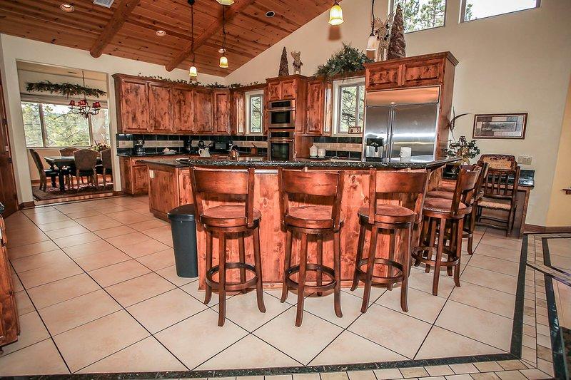 Custom Cabinets & Bar Stools
