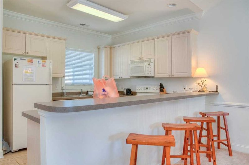 Kühlschrank, Kühlschrank, Mikrowelle, Ofen, Innenaufnahme