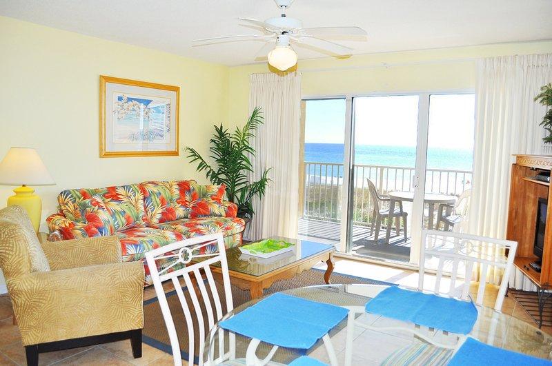 Sala de estar Gulf Dunes 214 Fort Walton Beach Ilha Okaloosa Casas para férias
