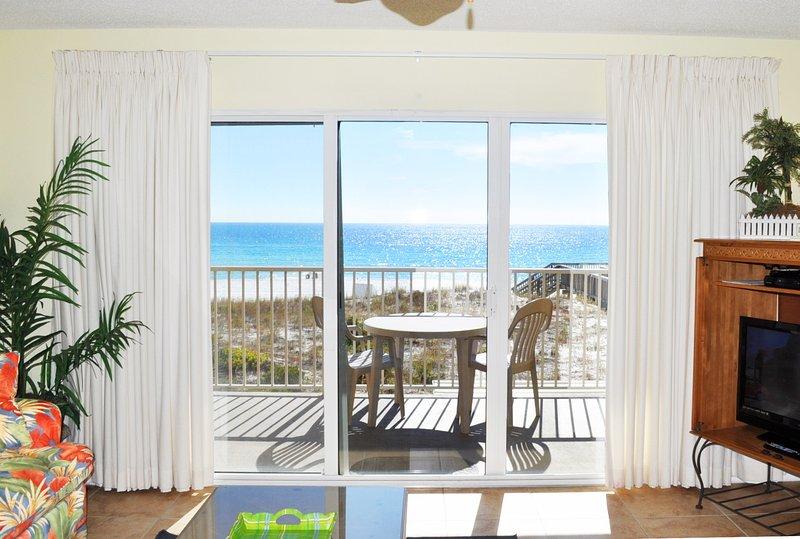 Sala de estar Gulf Dunes 214 Fort Walton Beach Okaloosa Island Alquileres de vacaciones