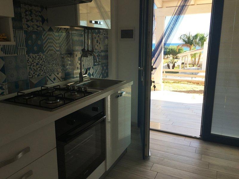 Villa Artemis Cuisine / Salon Vue sur Mer