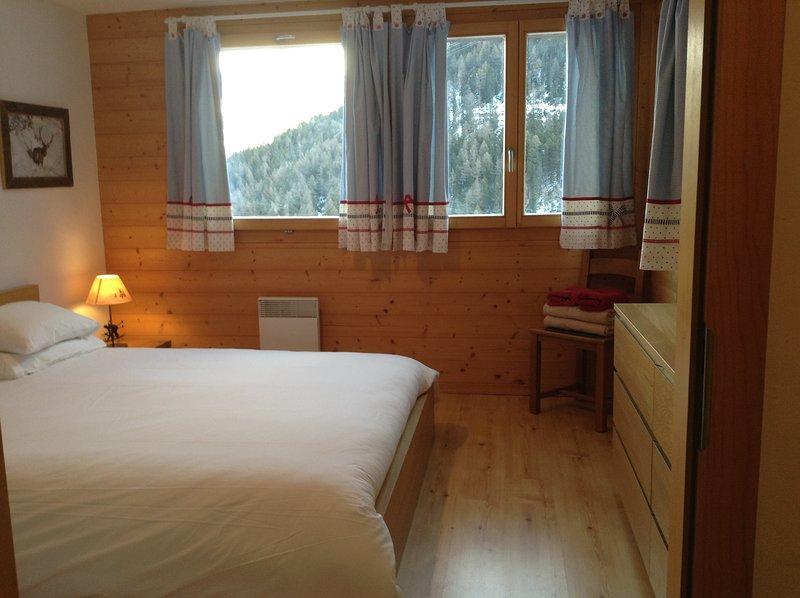 Double Bedroom with door to balcony Linen supplied