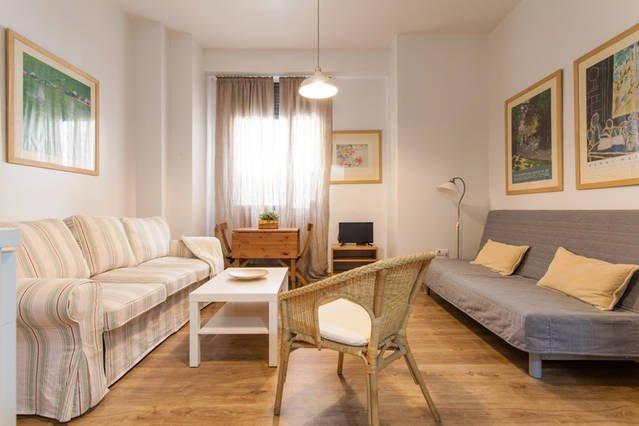 Sala de estar com 2 sofás-cama