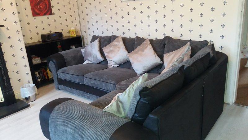 sofá de la esquina cómoda.