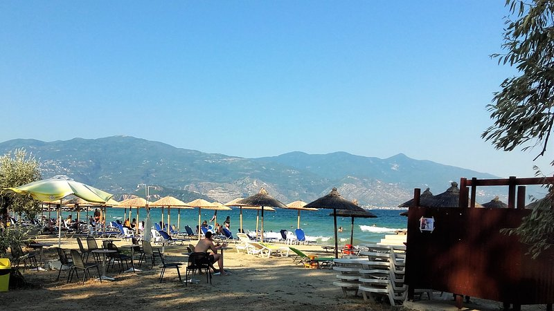 50 meters away from the villa, beach Alykies Volou