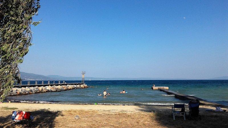 Alykies beach,50 meters away from the villa.