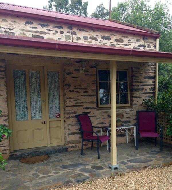 External view-enjoy a glass of wine overlooking the gardens