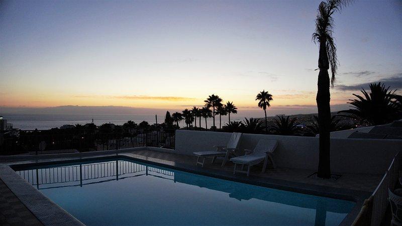 Aan het eind van iedere dag een prachtige zonsondergang.