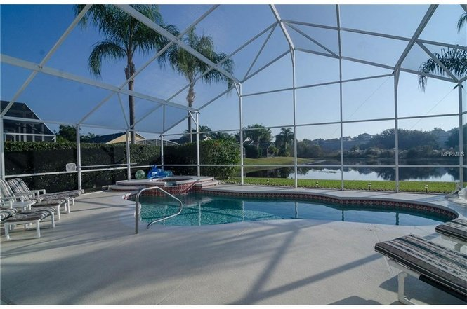 RELAX IN FLORIDA SUNSHINE AND VIEW THE LAKE WITH SWANS AND DUCKS SWIM PAST BY.  SERENE AND MAJESTIC