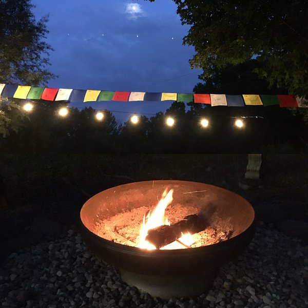 The firepit, lights and lots of stars just might make your Woodstock stay magical.