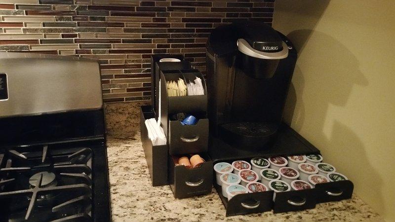 Koffie en ontbijt bars zijn aanwezig.