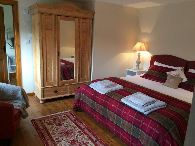 Comfortable double bedroom.