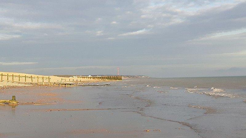 Normandos bahía durante la marea baja