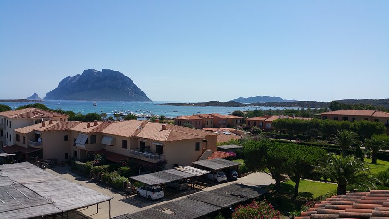 View of the island of Tavolara from the rooftop terrace