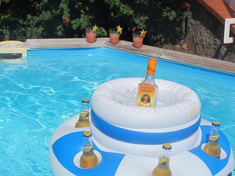 Niente come un buon ti'punch in piscina!