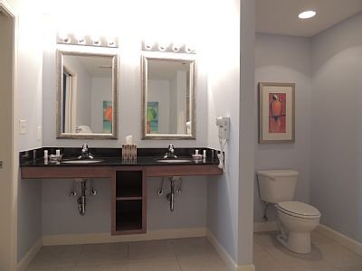 Large Master bath with  modesty divider.