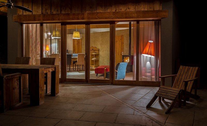 Salon Terrasse ECOTTAGE COUGOIR Drome Provencale