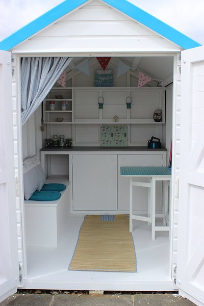 Our cool beach hut in nearby Goring to rent