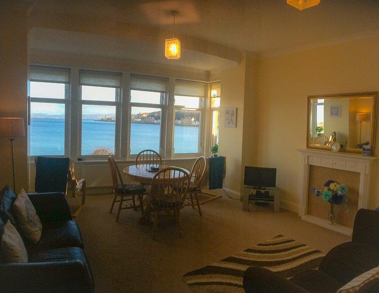 Spacious Living room with panoramic sea views