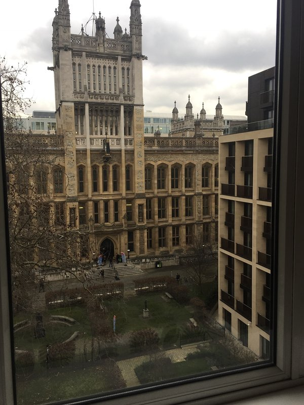 rear view looking onto Maughan Library