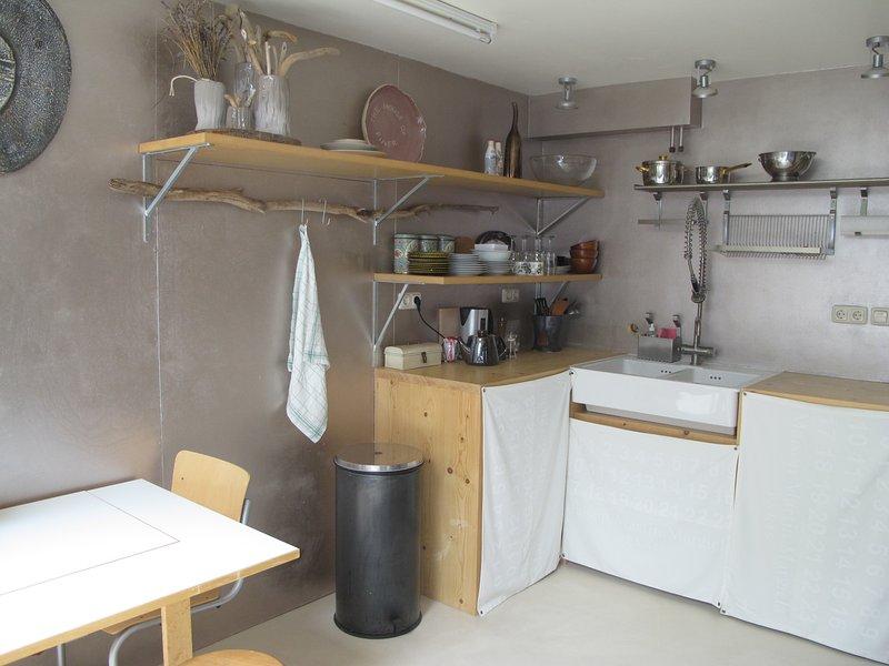 cocina en la habitación familiar