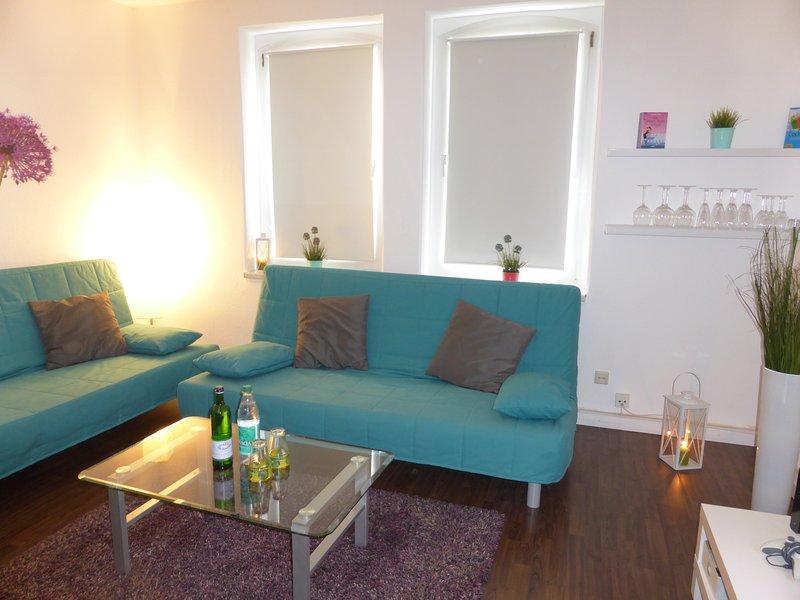 Schöne sonnige Wohnung für 6 Nähe Zentrum Free WiFi und Parken, location de vacances à Stadtroda