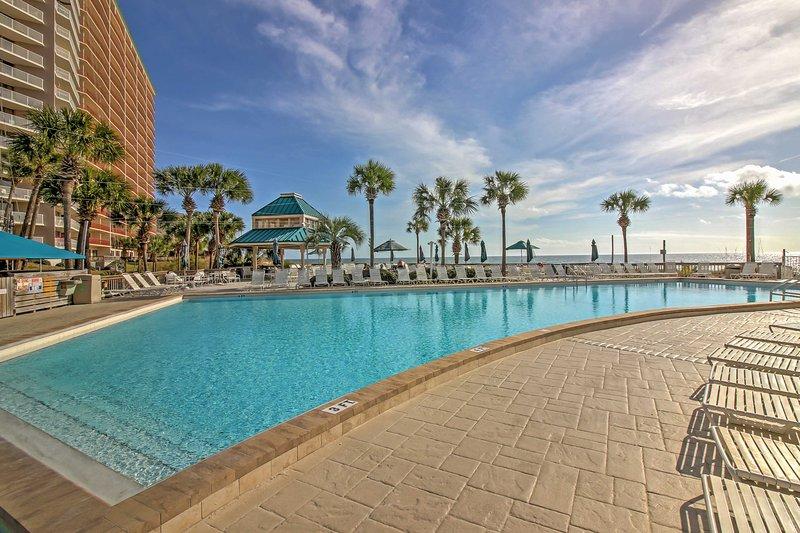 Enjoy the perks of a pristine community pool!