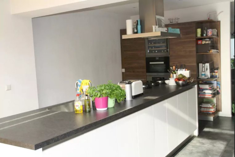 Open plan kitchen with central island