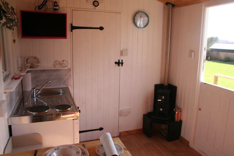 Kitchen and log burner!
